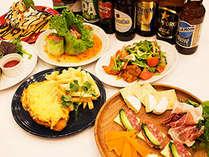 世界各国50種類のビールやメキシコ・タイ店ニュークレドニア等の料理もお楽しみ頂けます。