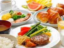 2食付プラン 1Fレストラン「みもざ」にて 日替り夕食&食べ放題朝食バイキング!