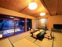 ■温泉露天風呂付特別室「鉄斎」は最大6名様までご利用いただけます。