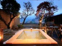 ■2018年4月新設の温泉露天風呂付特別室「鉄斎」は1室限定