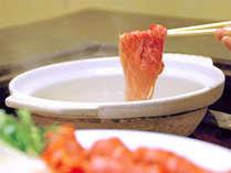 【牛しゃぶ】素材の味を堪能!お好みの茹で加減で