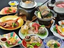【満福コース】伊勢海老・あわび・金目鯛付和会席膳(料理一例)