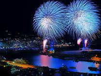 熱海海上花火大会 当館の間近で上がる花火は圧巻!