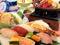 【5月6月は牛陶板焼き付き】 おまかせ握り十貫付き!寿司御膳プラン
