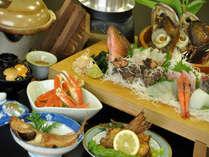 F:地魚姿造り付(まな板or桶盛り) あわびやさざえの海鮮残酷焼き部屋食プラン