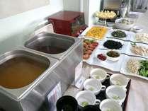 """朝食バイキングの一例秋田県自慢のお米""""あきたこまち""""をどうぞ♪"""