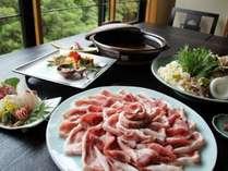 地元の豚肉使用・大人気犬鳴ポーク鍋プラン♪お味噌味かしゃぶしゃぶが選べます。