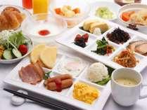 朝食(和・洋取り分けイメージ)