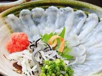 【タイムセール】1080円オフ!ズワイ蟹と温泉とらふぐのお造り&温泉とらふぐのサラダ付プラン