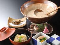 地の食材を使用したお料理をご堪能下さい。(一例),岐阜県,夜がらす山荘 長多喜