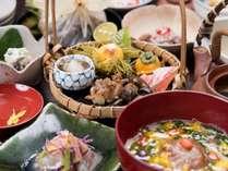 *【料理一例】茶道も盛んであった中津川ならではの、季節に合わせたお料理をご用意致します。,岐阜県,夜がらす山荘 長多喜