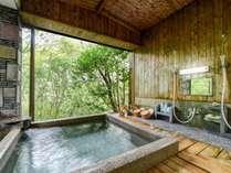 *【浴室・女湯】別棟にございます。窓を開け放つと露天風呂さながらの開放感があります。,岐阜県,夜がらす山荘 長多喜