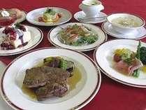 お肉好きな方におすすめ!!牛ステーキ、前菜、カルパッチョなど全8品【洋食プラン】