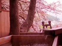 【春】見晴の客室露天風呂