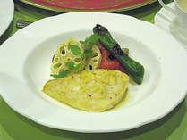 *夕食一例/カジキのオーブン焼・ガーリック風味