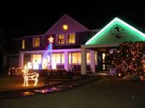 クリスマスのイルミネーションのマーメイド