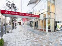 ★大津通からホテル入口へ