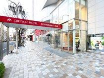 ◆大津通からホテル入口へ