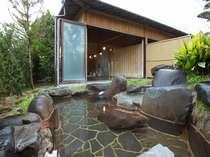 【露天風呂 男湯】掛け流しの天然温泉です