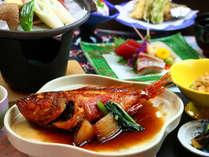 ■リーズナブルコース一例■旬魚の煮魚やメヒカリが味わえてオトク
