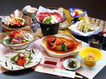 ■スタンダードコースは刺身に旬魚の姿煮に牛ステーキが付いた食べごたえ満点の和会席