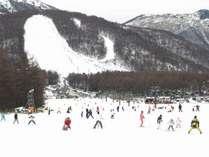 湯の丸スキー場 第2ゲレンデ上部から向かい側は第1ゲレンデ