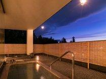 【露天風呂】諏訪の街を見下ろす絶景温泉です♪