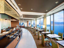 2017年3月オープンの「レイクビューダイニング ビオナ」地上約120mからの眺望とブッフェ料理♪
