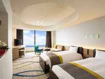 ユニバーサルルーム(5F)は段差がないため、安全で快適なホテルステイをお楽しみいただける、機能的な客室