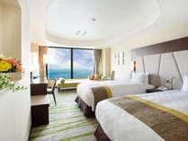 【EIZANフロア ツイン】(33F)ワンランク上の寛ぎとゆとりを感じる客室
