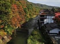 秋…、当館一帯 紅葉に包まれます。