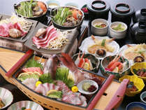 鯛の活姿造り舟盛り&蟹&和牛ステーキ♪ うれしい3点^^