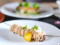 厳選した食材を素直に調理し、見た目に美しく、食べて美味しいお料理の数々をお愉しみください。