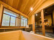 【藤303】職人が作る香り高い檜風呂をご用意※※藤・桜・樫の全ての客室には檜風呂がございます。