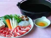 【7~10月までの期間限定おトクプラン★】茨城県産ローズポークのすき焼きプラン