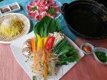 【7~10月までのおトクプラン】茨城県産ブランド豚と13種のお野菜のちり鍋プラン