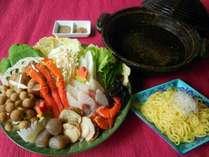 11月~【魚派!】【山と海の美味しいトコどり!】旨味たっぷり♪海鮮塩ちゃんこ鍋プラン