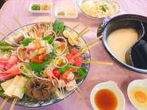 <11月からのおトクプラン>【期間限定】おトクだけど贅沢♪串しゃぶ鍋~常陸牛と海鮮と茨城野菜と~