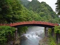 世界遺産・日光の社寺の入口に位置する神橋