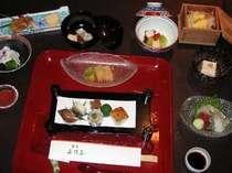 ご夕食「京懐石のお料理」(夏季の1例です。)