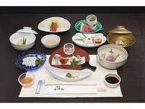 ご夕食:「京懐石のお料理」(夏季の1例です。)