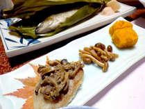*【夕食一例】地元で採れたきのこをふんだんに使った季節の味覚☆