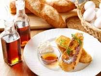 朝食 一晩かけてアパレイユに漬け込んだフレンチトーストはとろとろ☆ ※事前予約限定