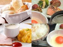 和食と洋食好きな方の朝食をお選び頂けます。サラダ・ドリンクバーつき