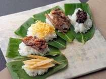 上杉謙信ゆかりの地、上越・妙高の郷土料理『笹寿司』を食す_。新潟のおいしい寿司飯にお好きな具をのせて