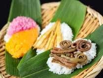 上杉謙信ゆかりの地、上越・妙高の郷土料理『笹寿司』を食す_。新潟のおいしいお米にお好きな具をのせて…