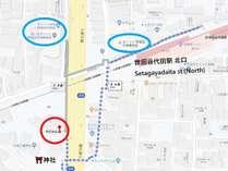 世田谷代田駅からの地図