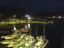 お部屋から眺める夜の港もロマンチック♪