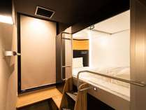 ◆上段キャビン(プライベートスペースで着替えも楽々♪)