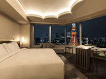 お部屋から東京タワーをご覧いただける人気のコーナールーム